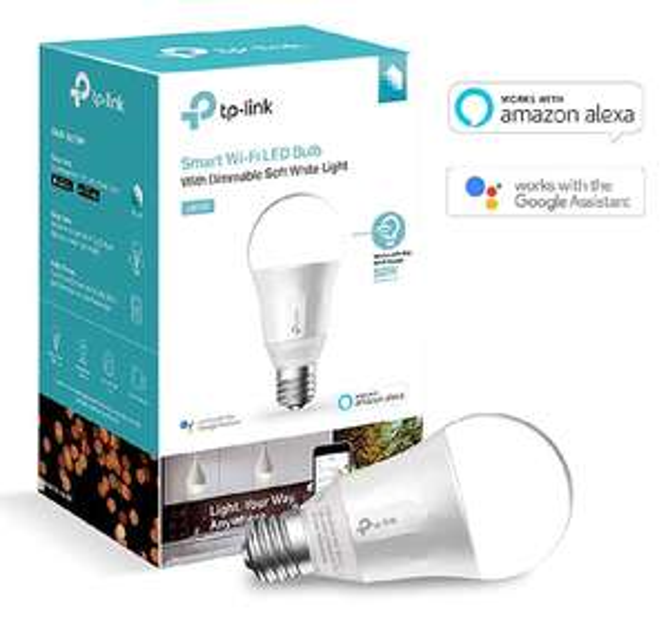 [Prime] TP-Link smarte WLAN Glühbirne (E27, 7W, funktioniert mit Amazon Alexa, Google Home und IFTTT, dimmbar Warmweiß, kein Hub erforderlich