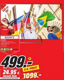 "[Lokal Koblenz MM] Sony 55"" XE 7005 UHD LED TV 499€ und Sony Soundbar Ht-Ct290 für 99€"