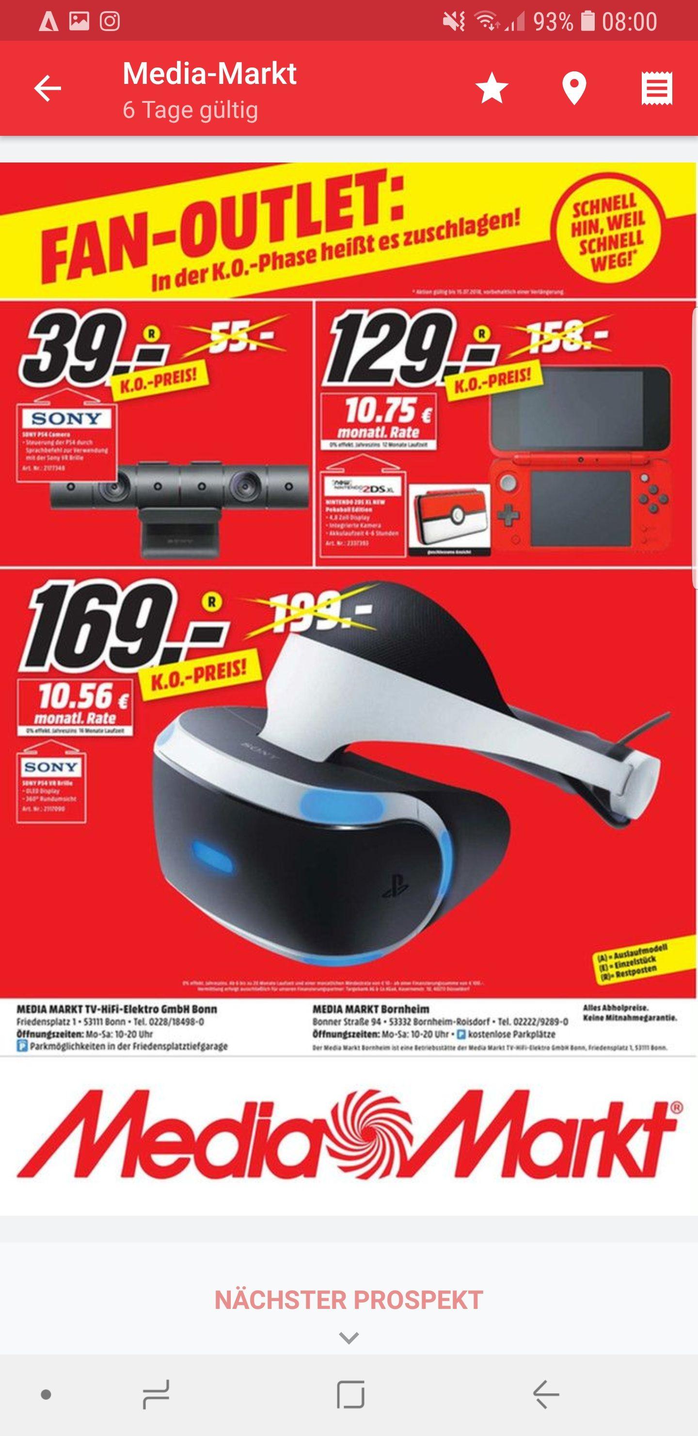 [Lokal Media Markt Bonn und Bornheim] Sony Ps4 VR Brille