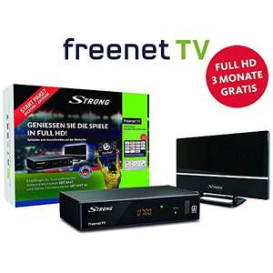 [Amazon] Strong SRT 8541 Full-HD-HEVC-DVB-T2 Receiver mit Antenne, freenet-TV (HDTV, HDMI, LAN, Scart, Dolby, Mediaplayer) Starter-Set Schwarz