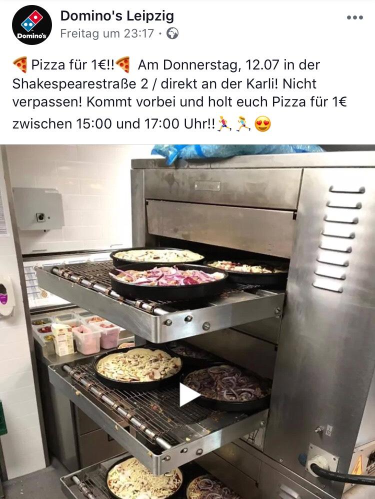 (Lokal Leipzig) Domino's Pizza für 1€ am 12.07