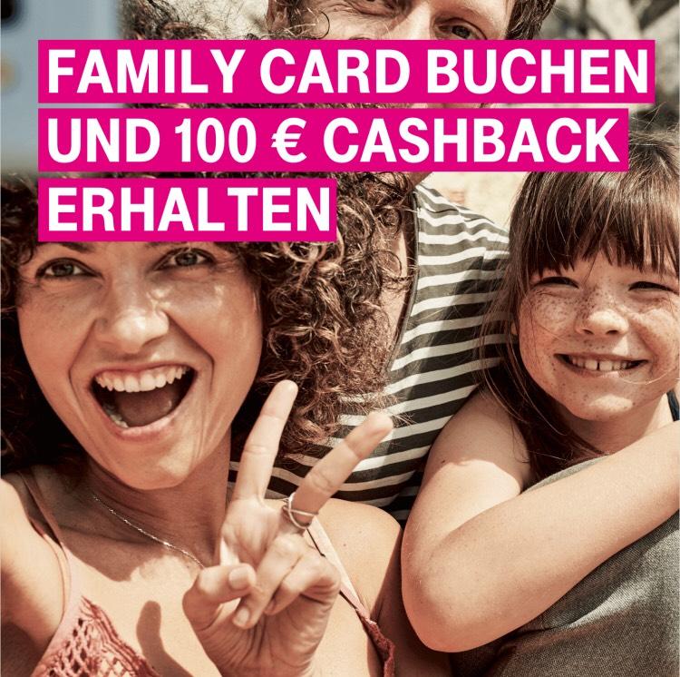 100€ Cashback bei Buchung einer Telekom Family Card