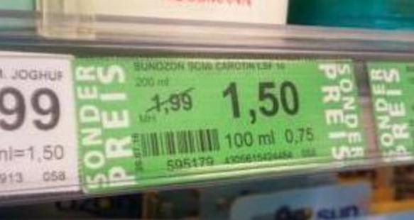 Green Label Preise ab 11.7. (Rossmann bundesweit)
