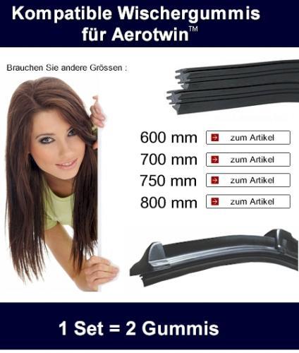 2x Ersatzgu?mmis für Bosch Aerotwin Scheibenwischer ab 5,75€ inkl. Versand @ Ebay