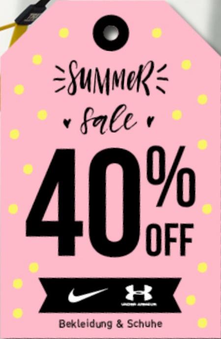 40% Sale Rabatt auf Alles von Nike und Under Armour (auch Schuhe) + kostenloser Versand und Rückversand [my-sportswear.de]