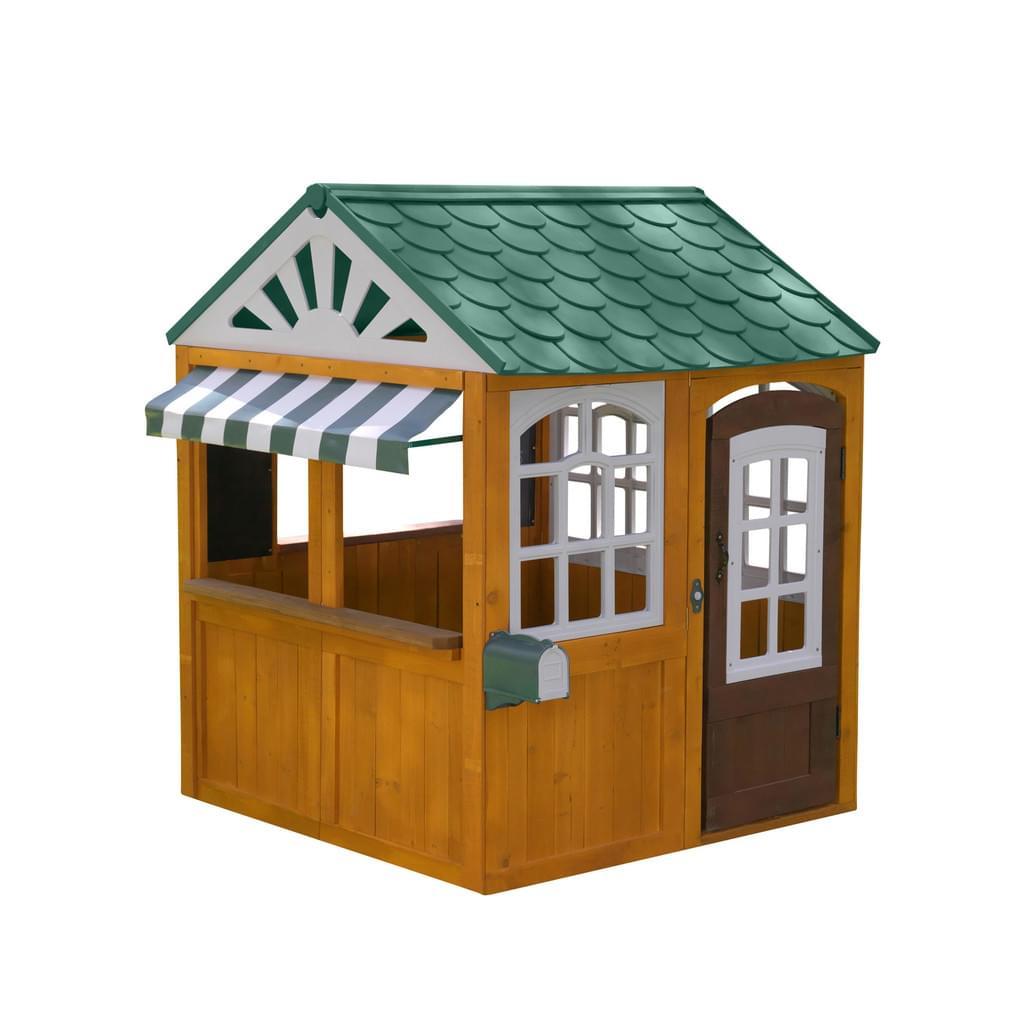 KidKraft Gartenspielhaus Garden View aus Zedernholz und Kunststoff mit Klingel, Telefon, Uhr, Briefkasten