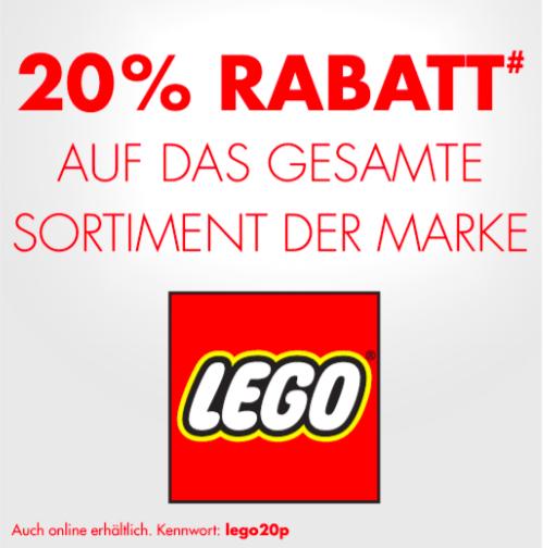 Ankündigung: Am 16.07. und 17.07. 20% auf Lego bei Karstadt