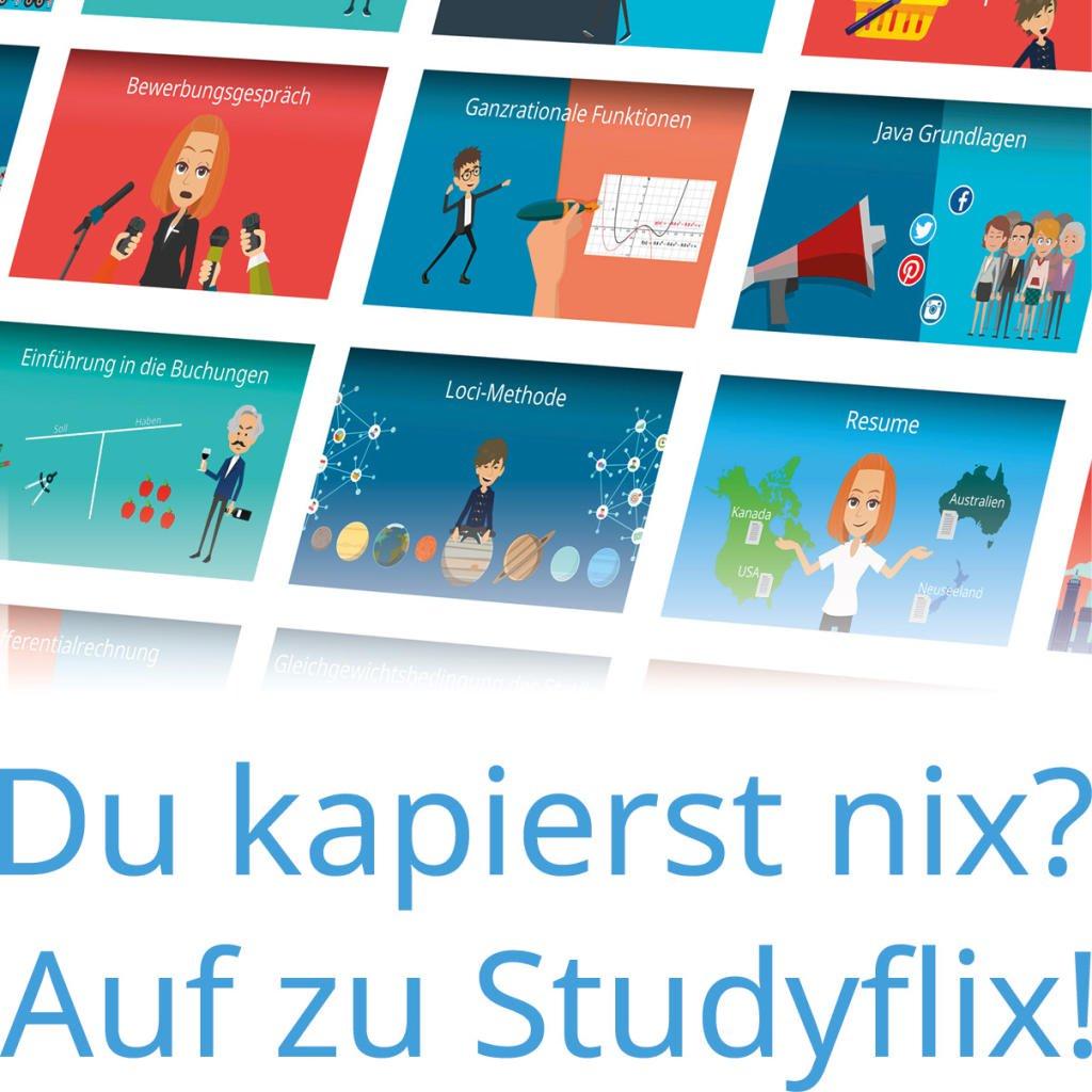 Kostenlose Videokurse für die Klausuren [Studyflix]