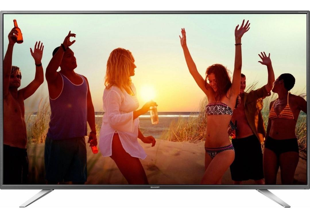 Sharp LC 65 CUG8052E - 164 cm (65 Zoll) Fernseher (4K Ultra HD, Smart TV, WLAN, Triple Tuner (DVB T2), harman/kardon Sound, USB) // Sharp 50 Zoll LC-50 CFG6002E für 342,28€ statt 387,95€