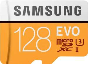 [melectronics CH] Samsung Speicherkarte Evo microSDXC 128 GB und 100 Kabelbinder [Fifty Shades of Grey Bundle]