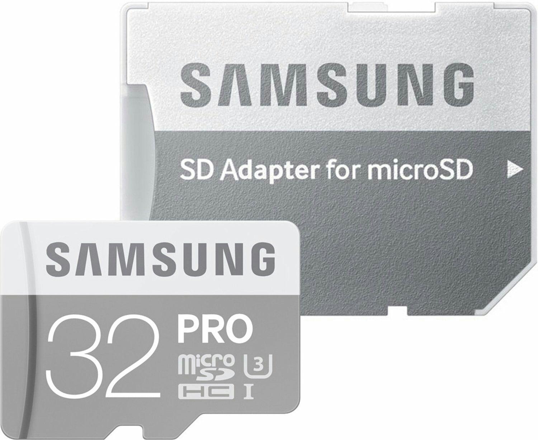 Samsung PRO MicroSDHC - 32 GB, U3, bis zu 90 MB/s, inkl. SD Adapter (eBay)