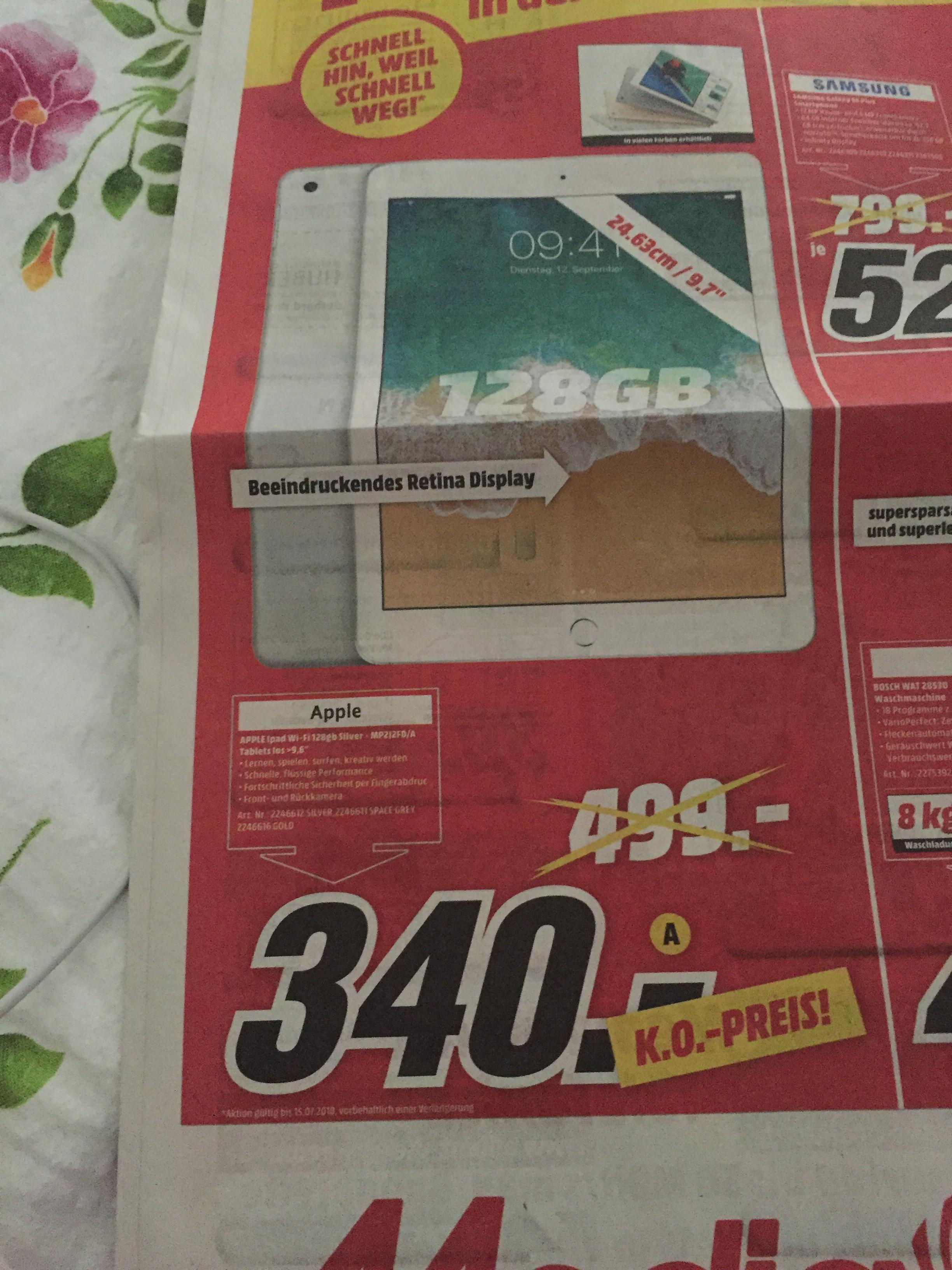 Apple IPad Wi-Fi 128 GB in Silber für 340€ (Lokal Mannheim, Viernheim, Weinheim)