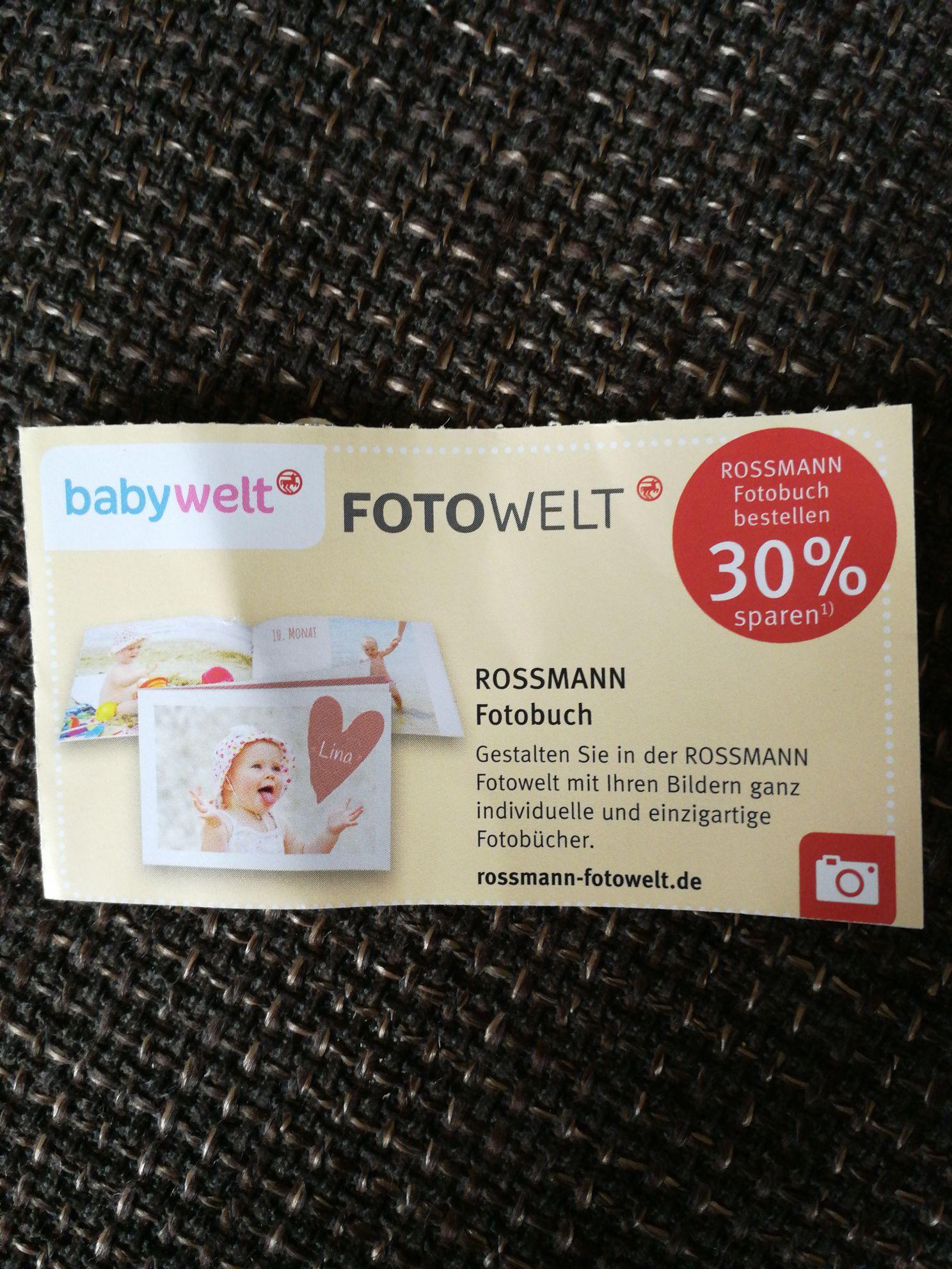 [Rossmann] 30% Spar-Coupon für ein Fotobuch