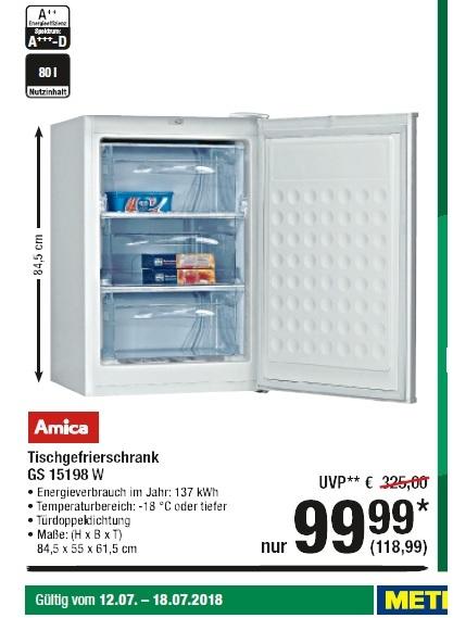 [METRO] Tischgefrierschrank Amica GS 15198 W