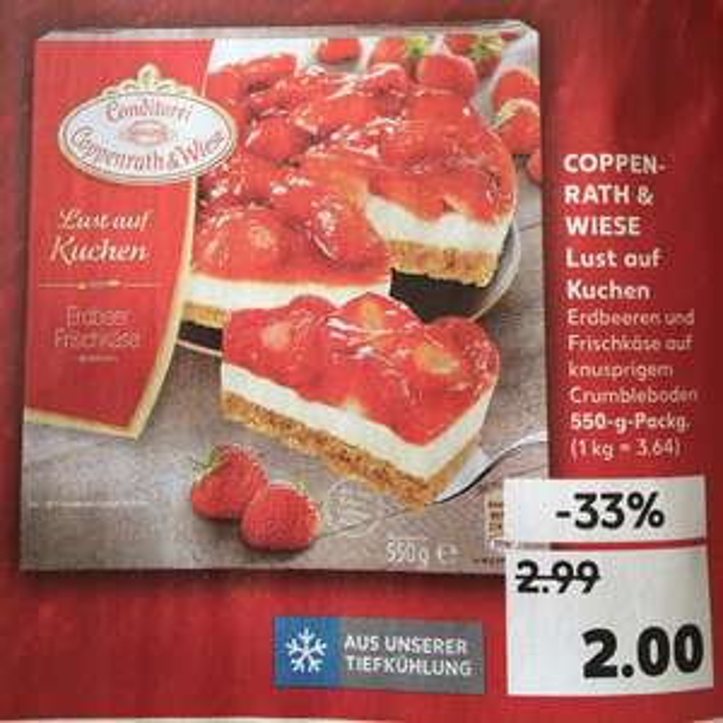 Coppenrath&Wiese Lust auf Kuchen Erdbeer Frischkäse [Kaufland]