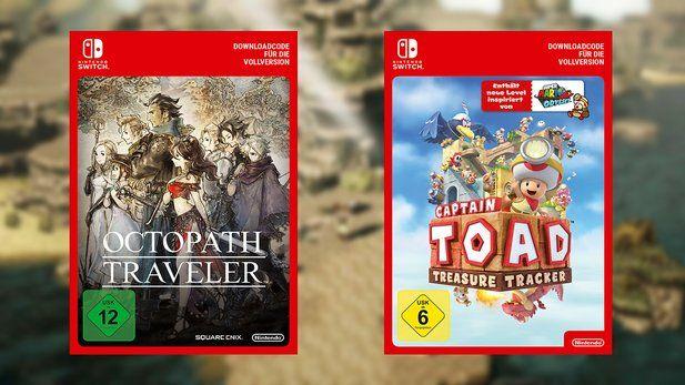Octopath Traveler und Captain Toad zum Release im Angebot bei Gamesrocket