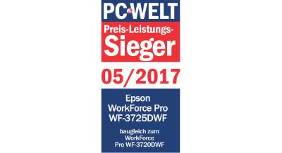 EPSON Multifunktionsdrucker mit 20€ WarenkorbrabattEPSON WorkForce Pro WF-3725DWF Tintenstrahl 4-in-1 Multifunktionsdrucker WLAN Netzwerkfähig
