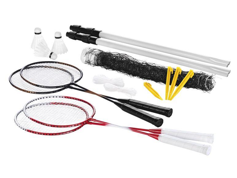 CRIVIT® Badmintonset Komplett-Set bis zu 4 Spieler / Netzhöhe bis zu 1,7 m