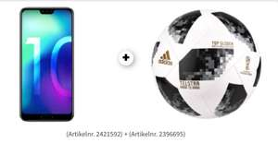 Honor 10 + 50€ Gutschein + Adidas Fußball