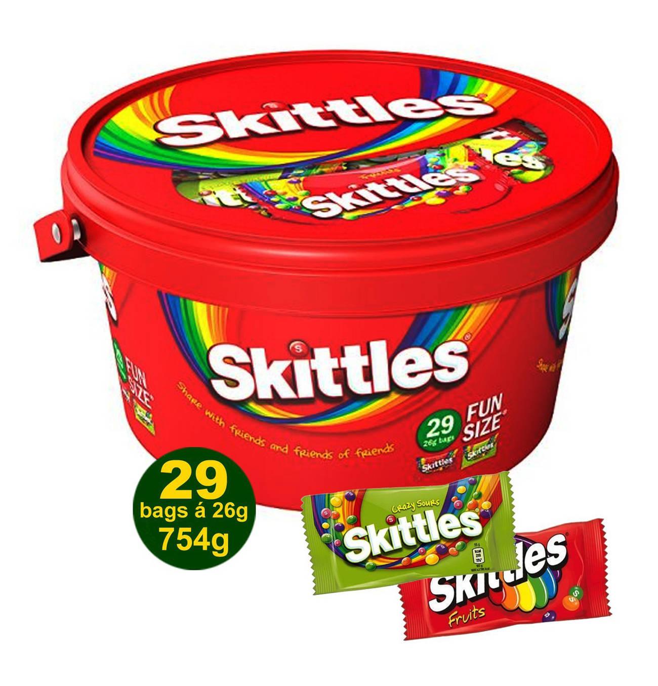 Wrigley's Skittles Fun Size Mix Box 754g (29x26g) für 4,99€ bei Jawoll