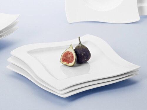 "Villeroy & Boch Frühstücksteller 24 cm x 24 cm quadratisch ""New Wave"" – zwei für 25,44€"