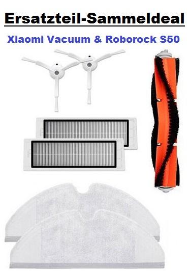 [Sammeldeal] Ersatz- und Verschleißteile für Xiaomi Vacuum bzw. Roborock S50(Generation 1+2)