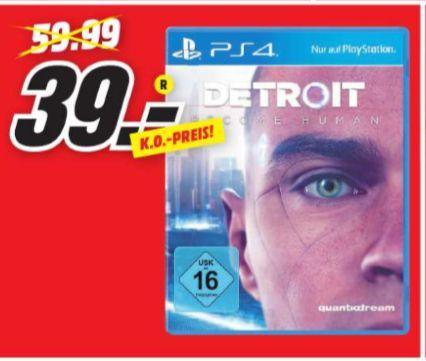 [Regional Mediamarkt Passau] Detroit: Become Human - [PlayStation 4] für 39,-€