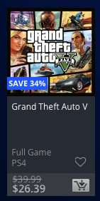 PSN CA (Kanada) - GTA V Sale