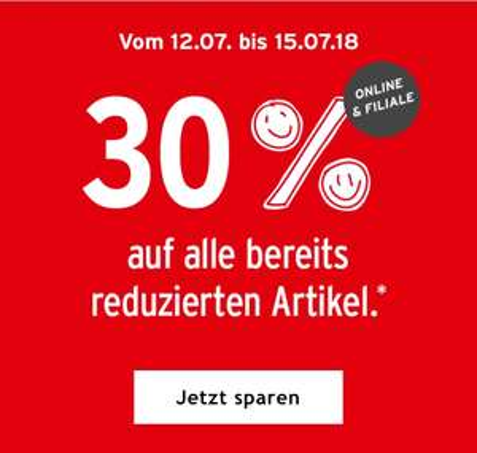 [Ernstings Family] 30% auf alles reduzierte! Online und in den Filialen