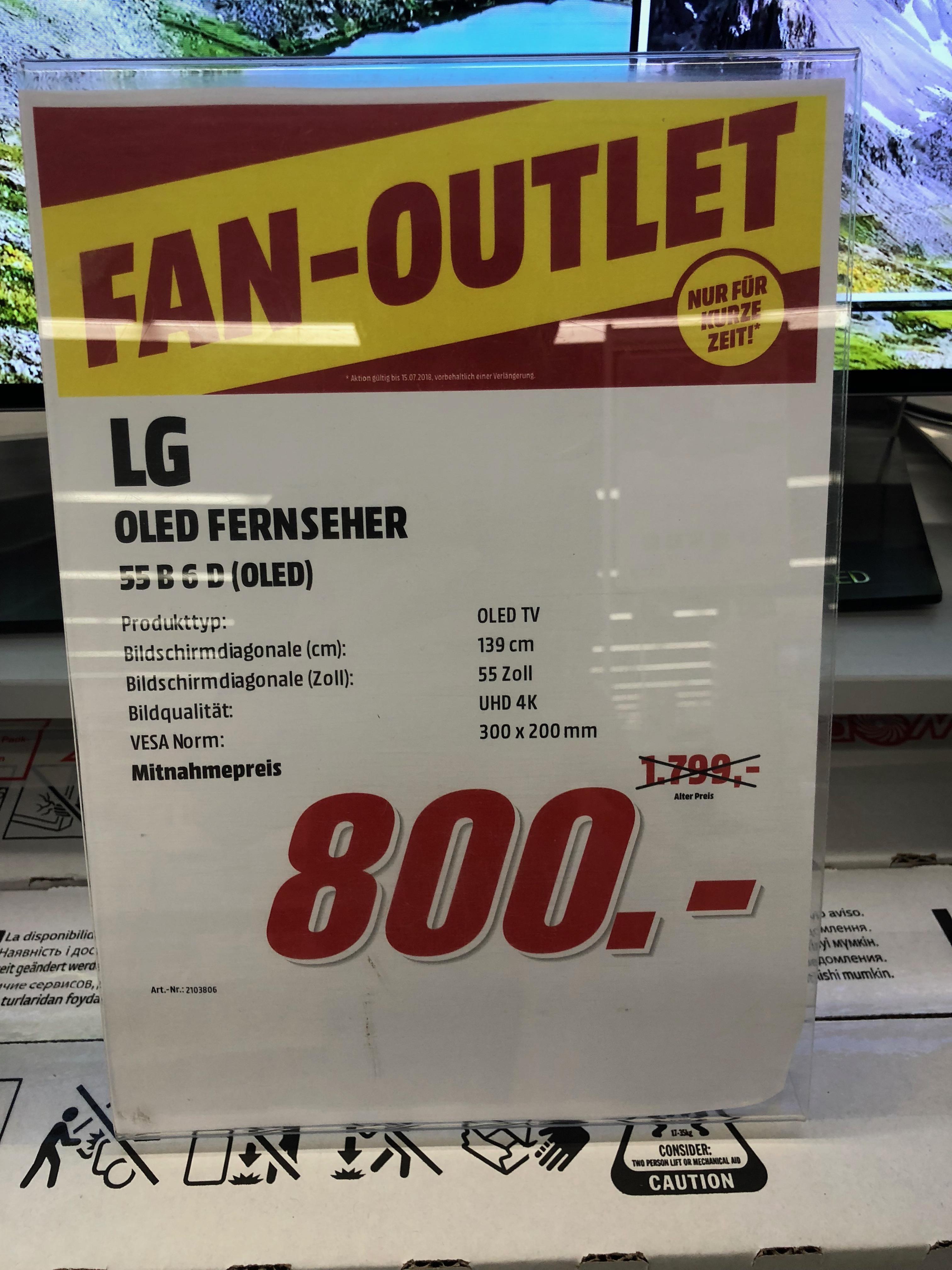 [LOKAL] LG OLED 55B6D Mediamarkt SLS