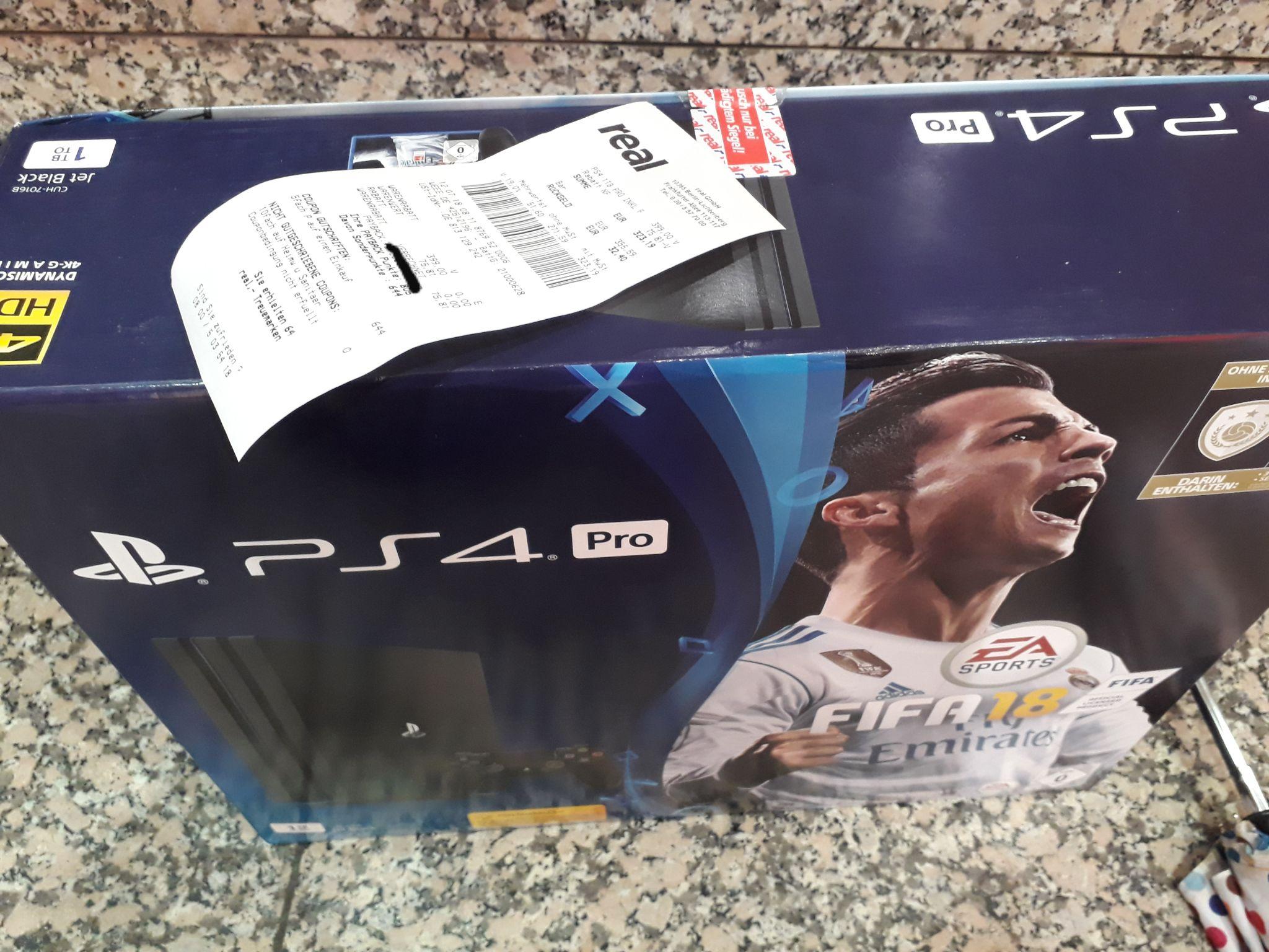 PS4 Pro (mit Fifa) für 323€ + 8€ Payback