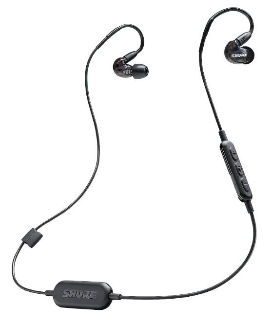 Shure SE215-K-BT1 Bluetooth In-Ear Kopfhörer/ Headset, Sound Isolating, Noise Cancelling, schwarz