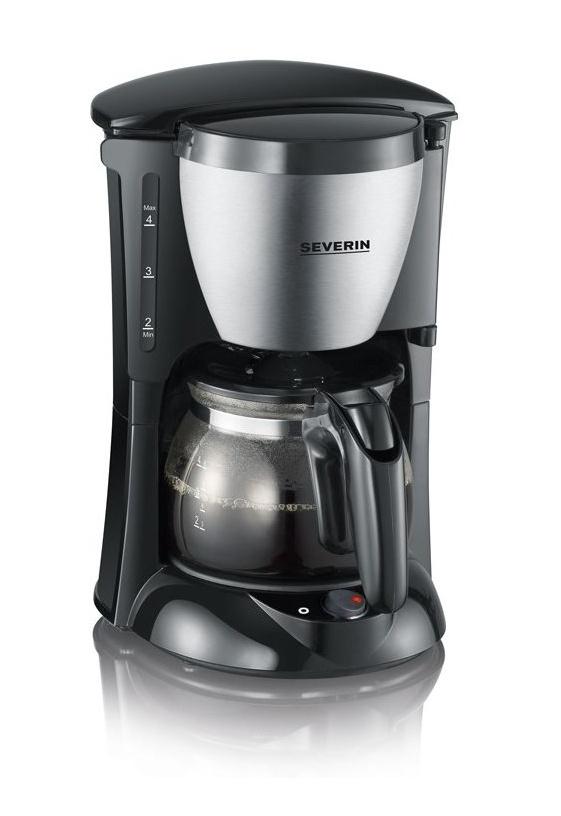 [Prime] Severin KA 4805 Kaffeemaschine (650 Watt, 0,46 L, Automatische Abschaltung) Edelstahl gebürstet/schwarz