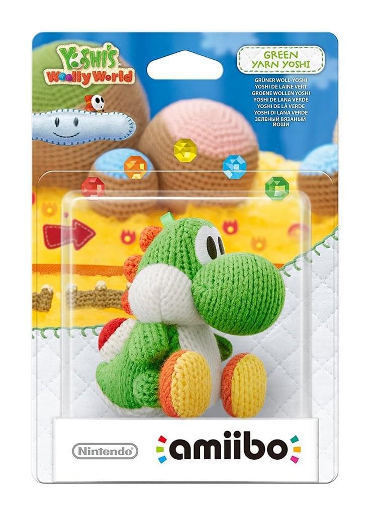 Nintendo Amiibo Woll-Yoshi grün