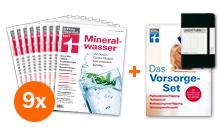 """[Stiftung Warentest]  9 Ausgaben test + Finanztest """"das Vorsorge-Set (i.W.v. 14,90 €) + Notizbuch für zusammen 25 €"""