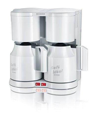 [Amazon] Severin KA 5827 Duo-Kaffeeautomat mit Thermokannen (1600 Watt, Edelstahl, Kunststoff) weiß