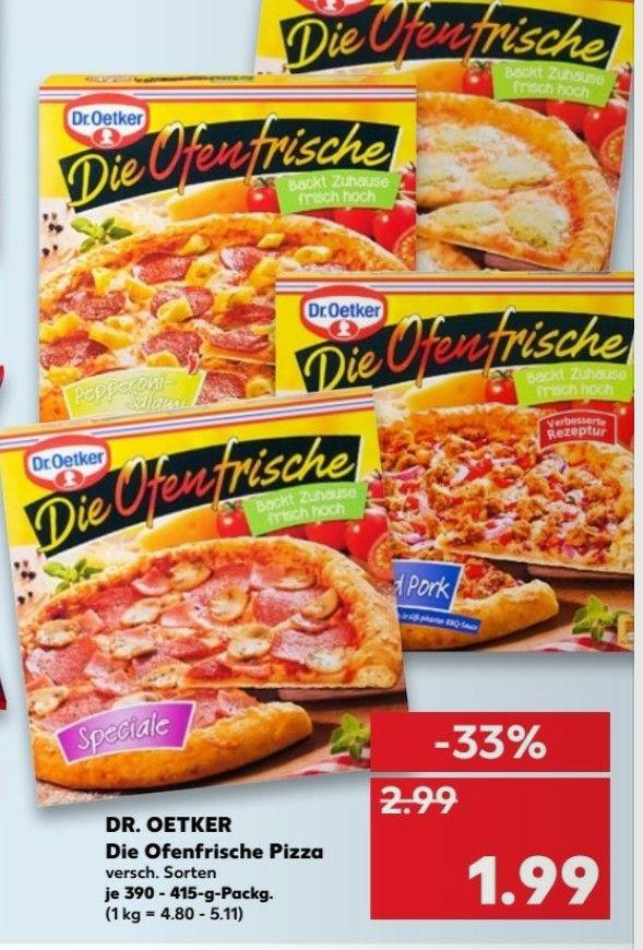 """""""Die Ofenfrische"""" Pizza bei Kaufland"""