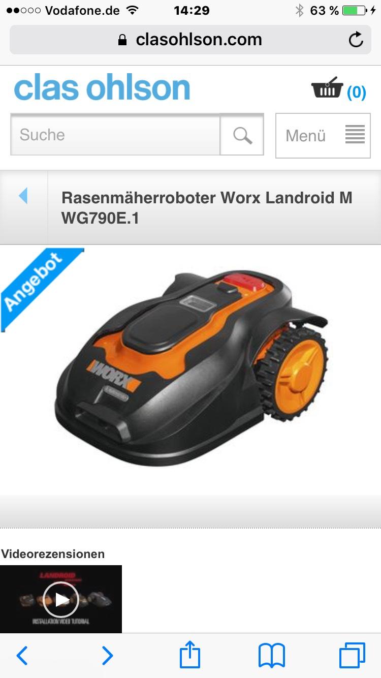 Rasenmäherroboter Worx Landroid M WG790E.1 bei Clas Ohlson