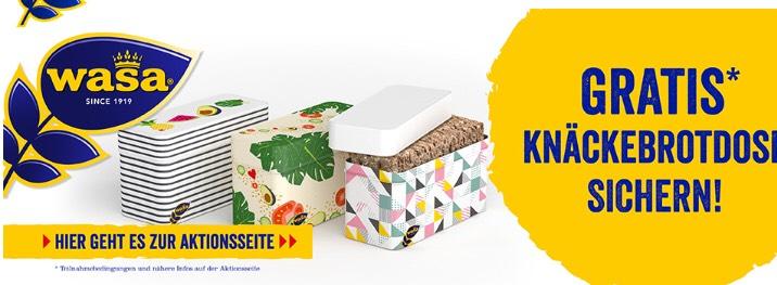 Gratis Knäckebrotdose beim Kauf von 3 Wasa Produkten