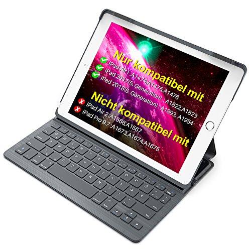 Bluetooth Tastatur und Hülle für Ipad (2017, 2018) und Ipad Air 1