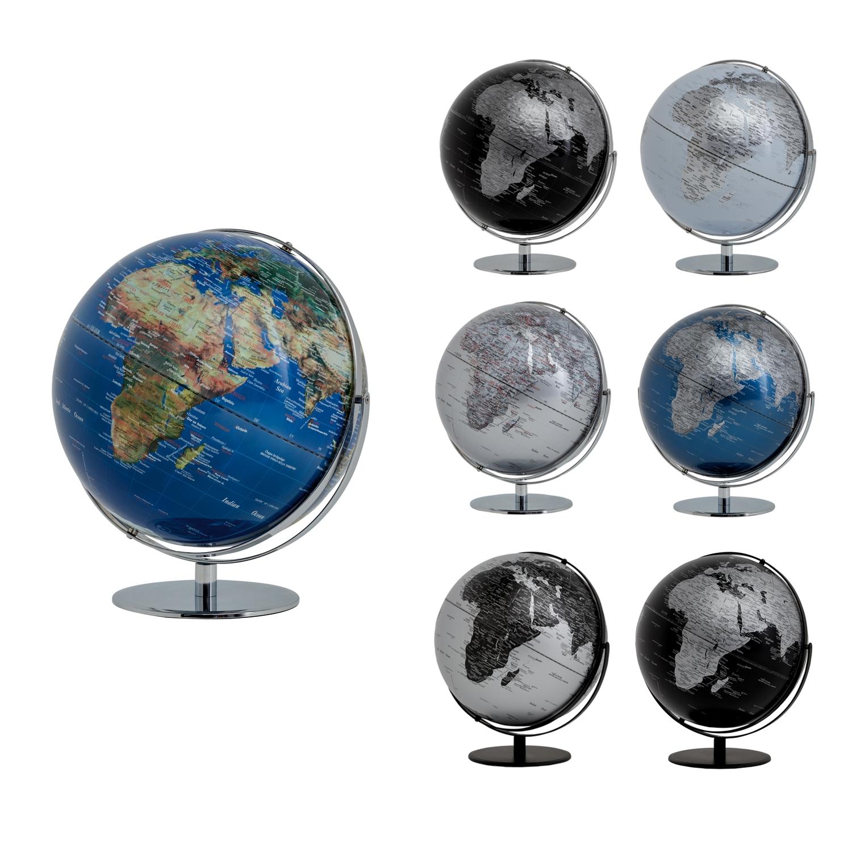designer Globus mit Relief Gebirge von EMFORM in schwarz deutlich reduziert