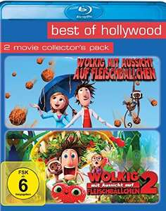 Wolkig mit Aussicht auf Fleischbällchen 1+2 Best of Hollywood Collection (2 Disc Blu-ray) für 7,98€ (Amazon Prime Blitzangebot)