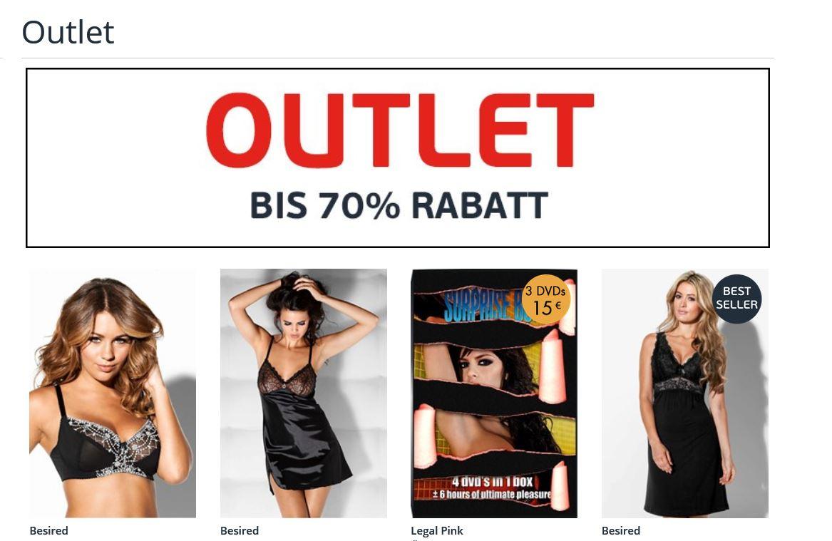 Beate-Uhse Outlet bis 70 % Rabatt