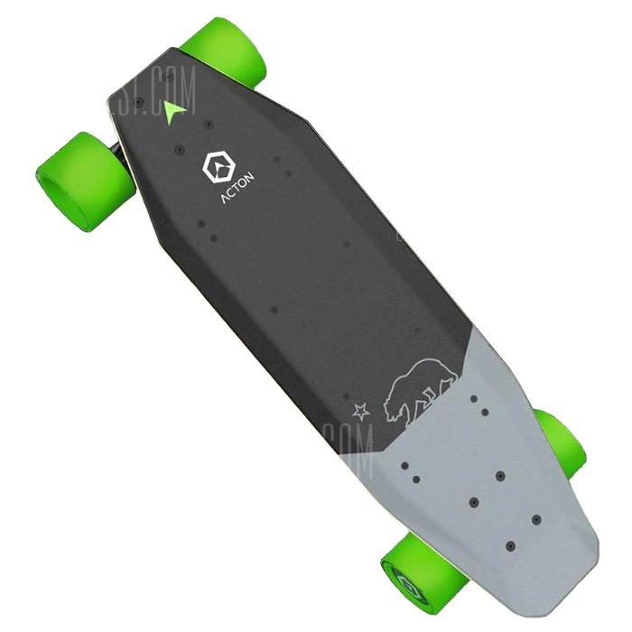 Xiaomi ACTON Smart Electric Skateboard Wireless Remote Control Omnidirectional LED Light Group 12KM Endurance – Grey + Green