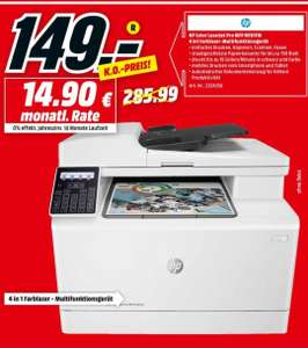 [LOKAL Berlin/Brandenburg] HP Color LaserJet M181fw @ MediaMarkt