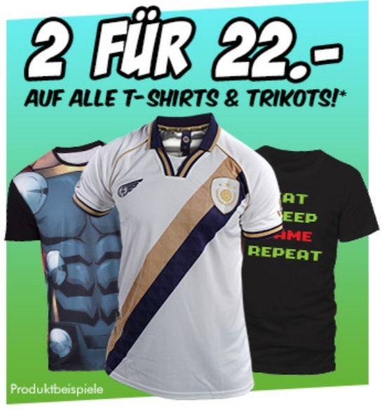 [Gamestop] 2 T-Shirts für 22 Euro darunter von Atari, Nintendo, Playstation, Marvel, etc.