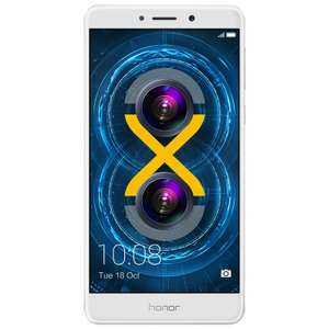 "Huawei Honor 6X Silber Dual-Sim 32/3GB 5.5"" FHD 12MP 3300mAh Android 7.0 [Cyberport]"
