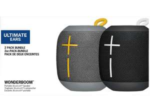 [Mediamarkt] ULTIMATE EARS WONDERBOOM Bundle Black & Stone Bluetooth Lautsprecher, Schwarz/Grau, Wasserfest