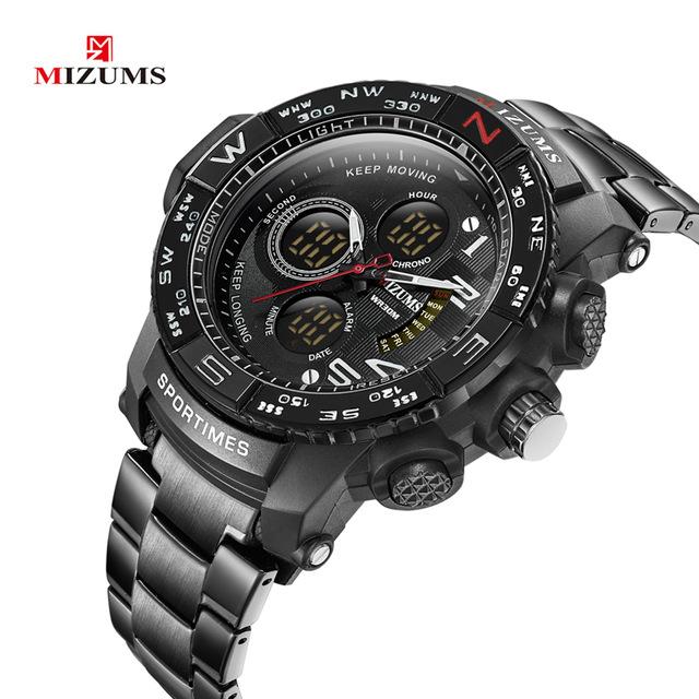 sportliche und elegante Herren Armbanduhr Mizums M8002
