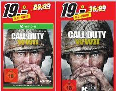 [Regional Mediamarkt Duisburg-Großenbaum]  Call of Duty: WWII (Xbox One und PC) für 19,-€ // Pokémon: Ultrasonne (3DS) für 19,-€